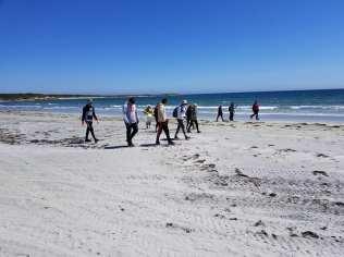 Students on beach 1